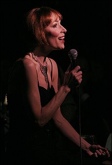 BEGIN THIS BEGUINE: During the Terrace Theater cabaret show, Akers deftly worked her way through the songbook's plays on words, and then some.