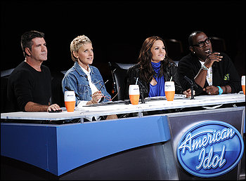 Americal Idol judges sit in judgment