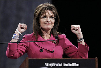 Sarah Palin addresses the National Quartet Convention in Louisville on Thursday.