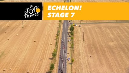 coup de bordure echelon etape 7 stage 7 tour de france 2018 video