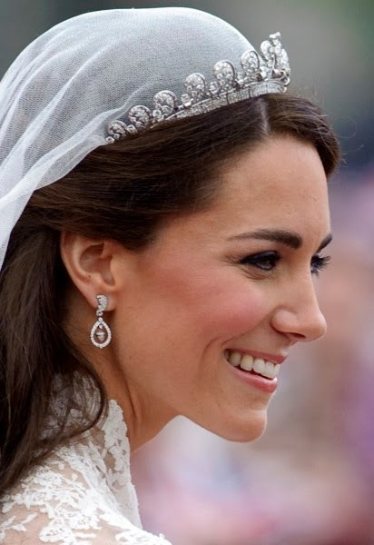 Kate Duchess of Cambridge on her wedding day