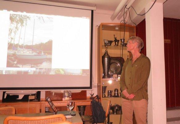 Eva Berglund-Thörnblom berättar om fritidsbåtarnas historiska utveckling