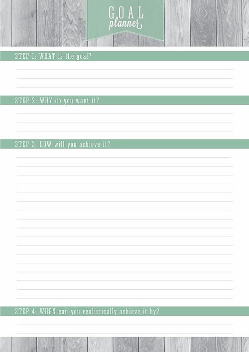 One-Goal Resolutions Printable