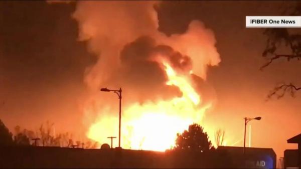 Caught on video Substation explosion sends huge fireball