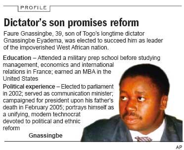 """Résultat de recherche d'images pour """"togolese dictator"""""""
