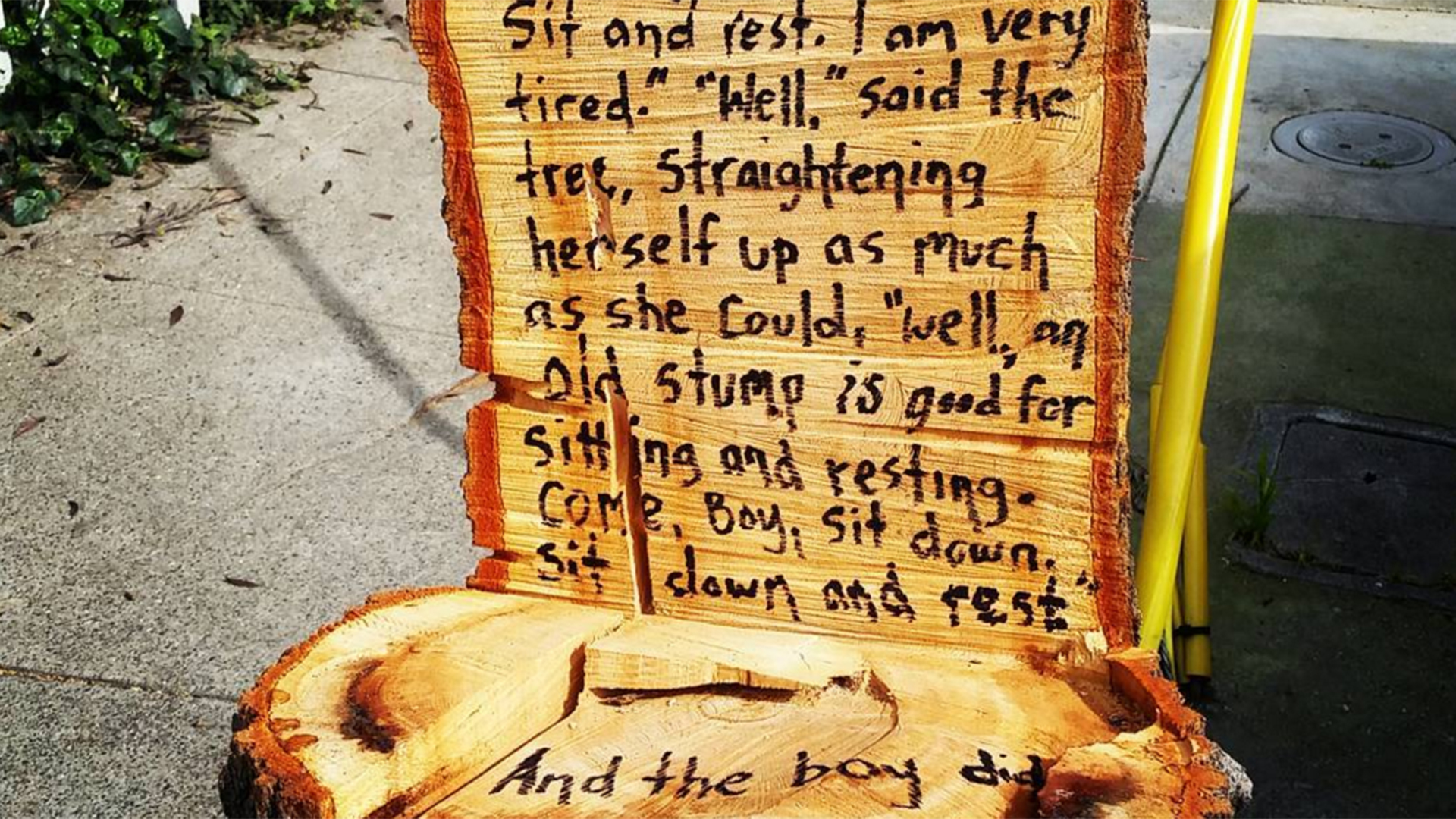 Someone Turned This Stump Into The Sweetest Giving Tree