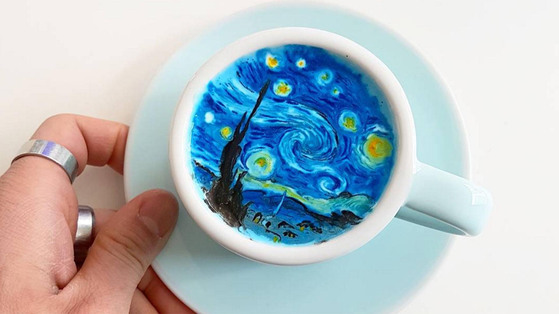 Hasil gambar untuk Korean barista creates delicious art by drawing beautiful pictures in coffee