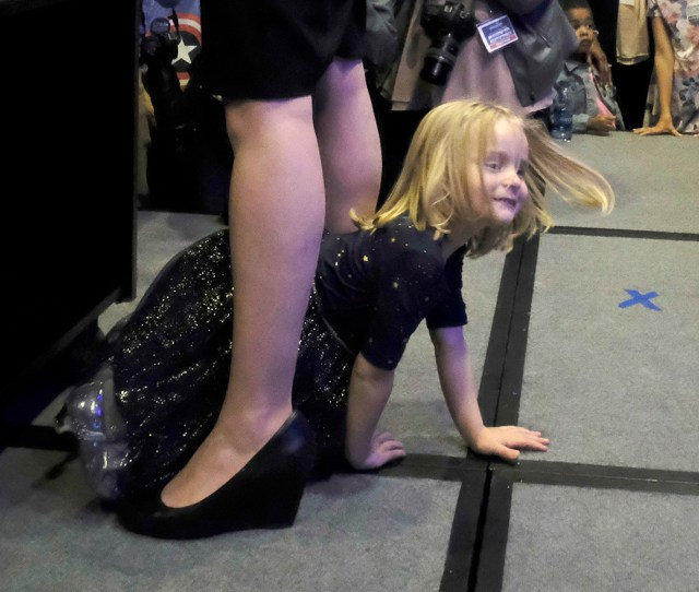 See How This Little Girl Stole The Show During Moms Election Night Victory Speech