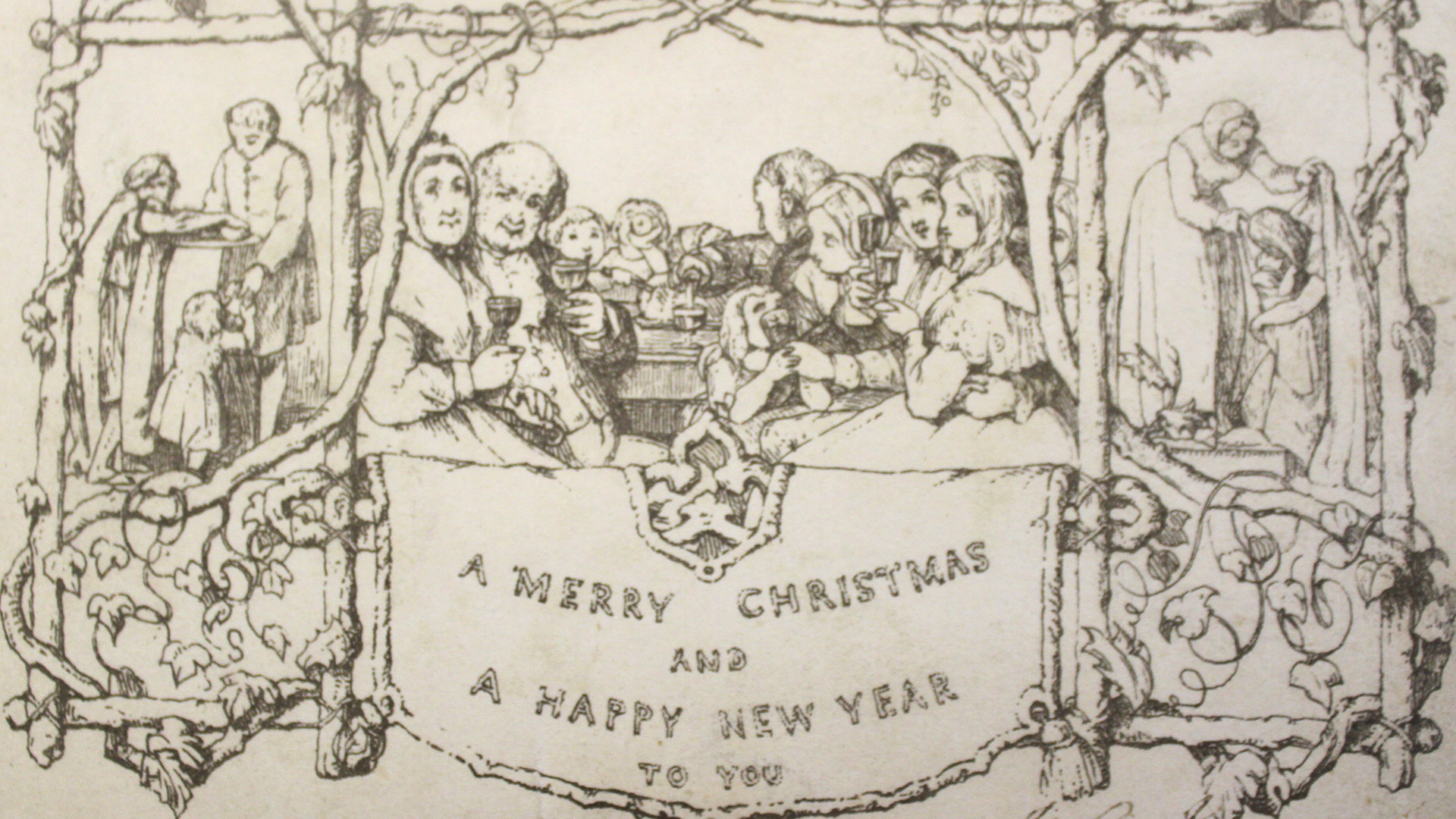 One Of Worlds First Christmas Cards Sells For Over 6800