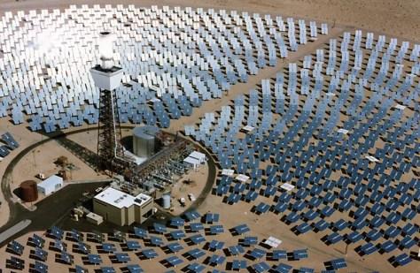 Image: Solar power plant in Mojave Desert