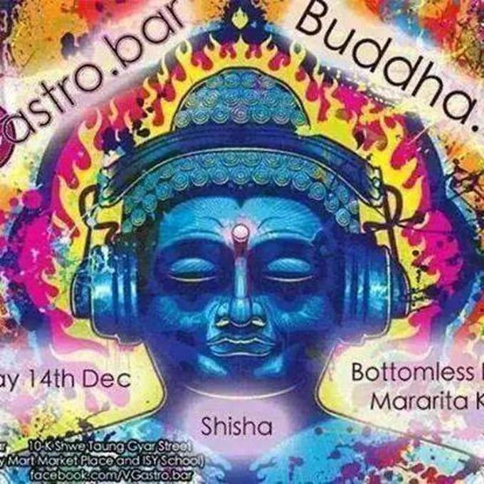 Image: Image depicting Buddha wearing headphones