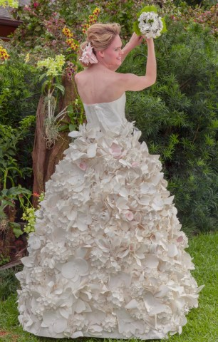 These gorgeous wedding dresses are made from toilet paper This year was the 11th Toilet Paper Wedding Dress Contest  and for the  first time  the winner s design will be made into a real  read  non toilet  paper