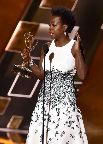 Actress Viola Davis accepts Outstanding Lead Actress in a Drama Series Emmy