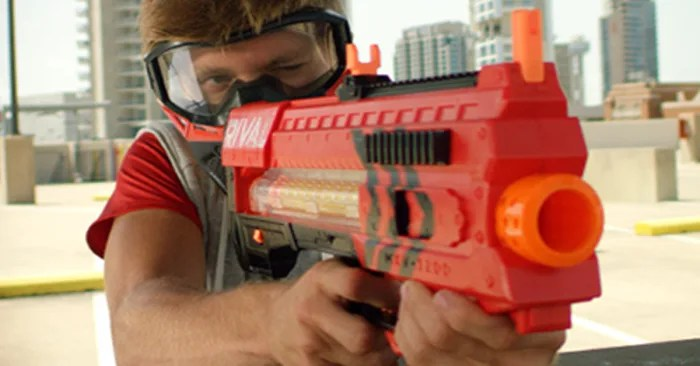 Hide Your Kids New Nerf Gun Model Is Automatic Fires At