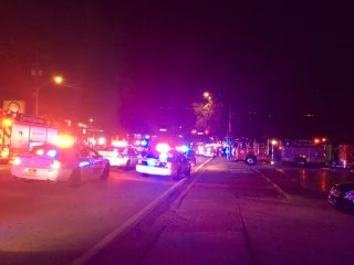 Image: Emergency services respond to a shooting at the Pulse Nightclub in Orlando, Florida.