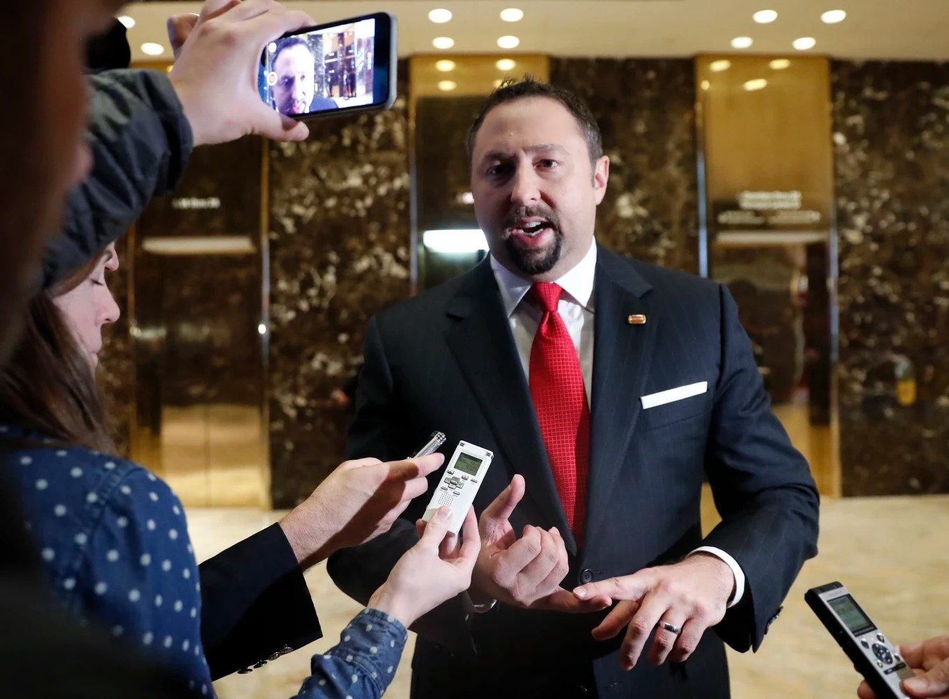 Image result for photo of trump with hope hicks or jason miller