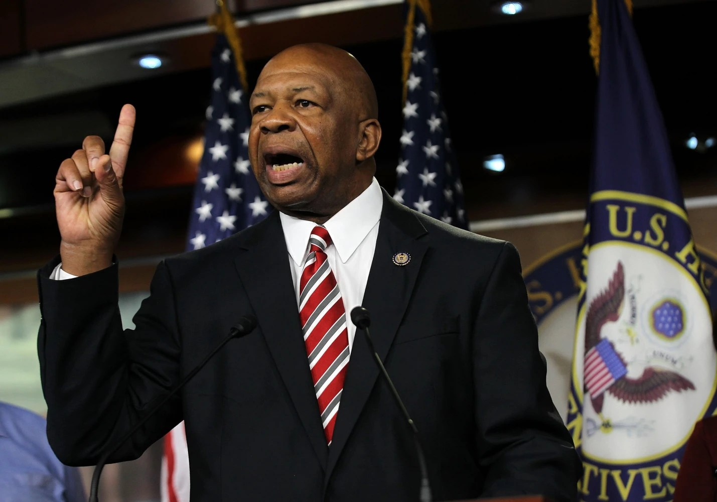 Image Rep. Elijah Cummings speaks during a news conference July 20