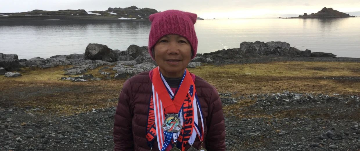Image result for 70-year-old woman runs 7 marathons on 7 continents in 7 days