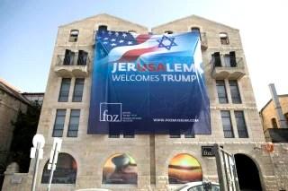 Image: Donald Trump Jerusalem visit preparations