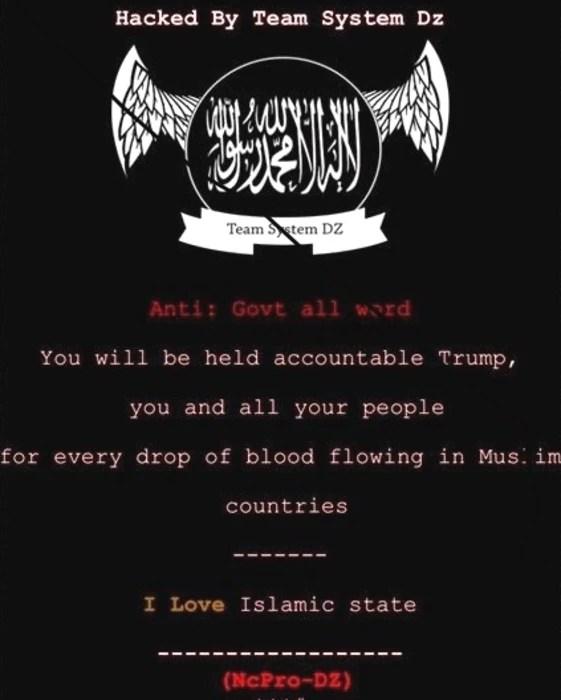 IMAGE: Pro-ISIS message on Ohio sites