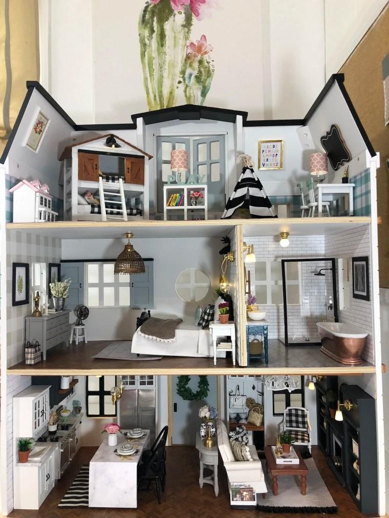 Kwandaa Roberts Fixer Upper Inspired Dollhouse Is Amazing