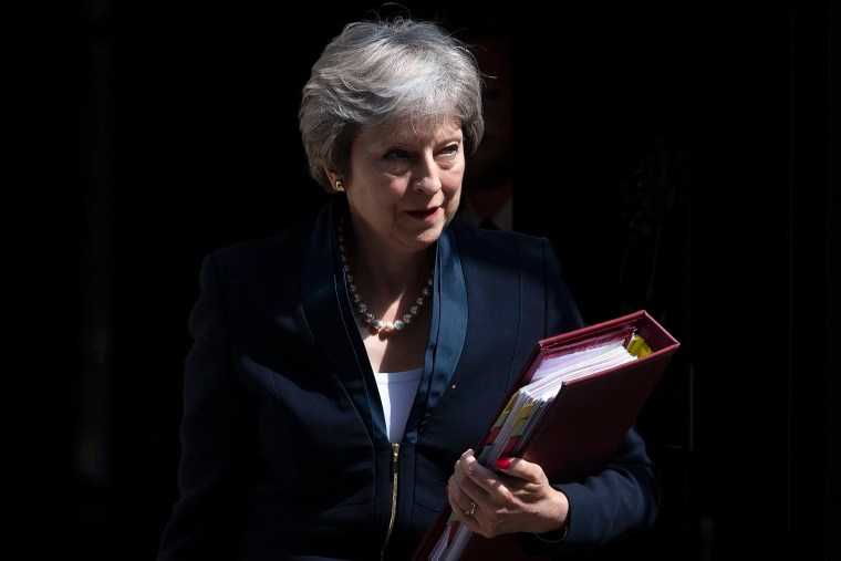Image: British PM Theresa May's government is racked by internal warfare over Brexit