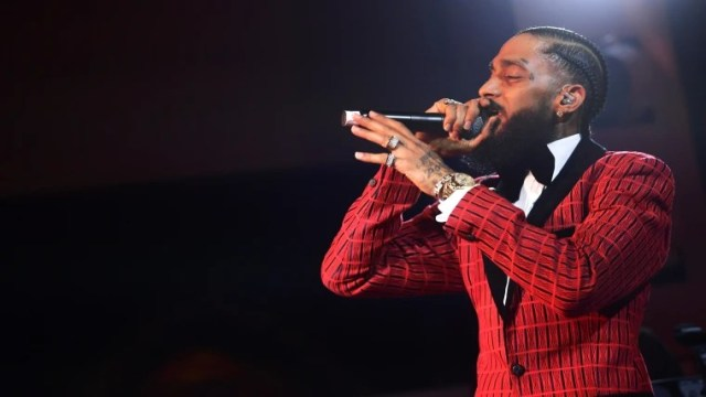 Image: FILER: Rapper Nipsey Hussle Shot And Killed In Los Angeles At Age 33 Warner Music Pre-Grammy Party - Inside