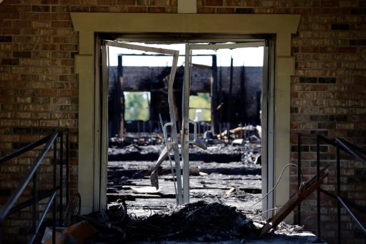 Image: Louisiana Church Burned Aftermath