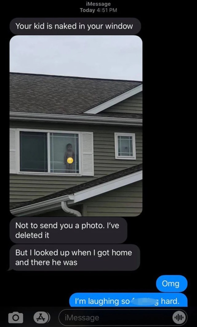 Jennifer Boysen's 2-year-old son Dax stood naked in the window for the whole neighborhood to see.