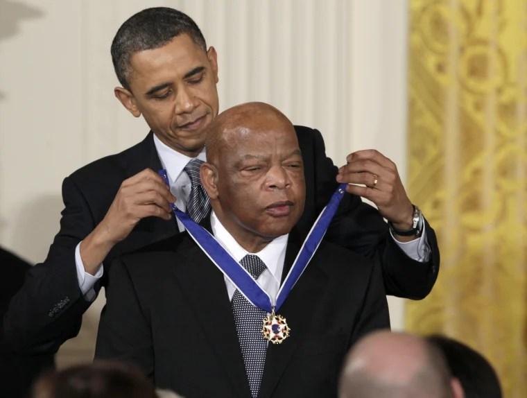 Image: Barack Obama, John Lewis