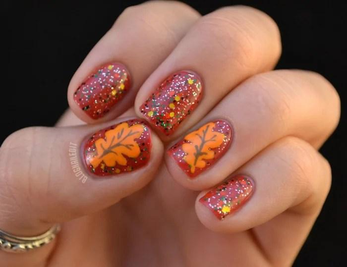Thanksgiving Nail Art 13 Festive Fall Manicure Tutorials Today
