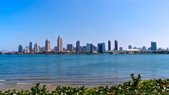 A look at Downtown San Diego from Coronado Island