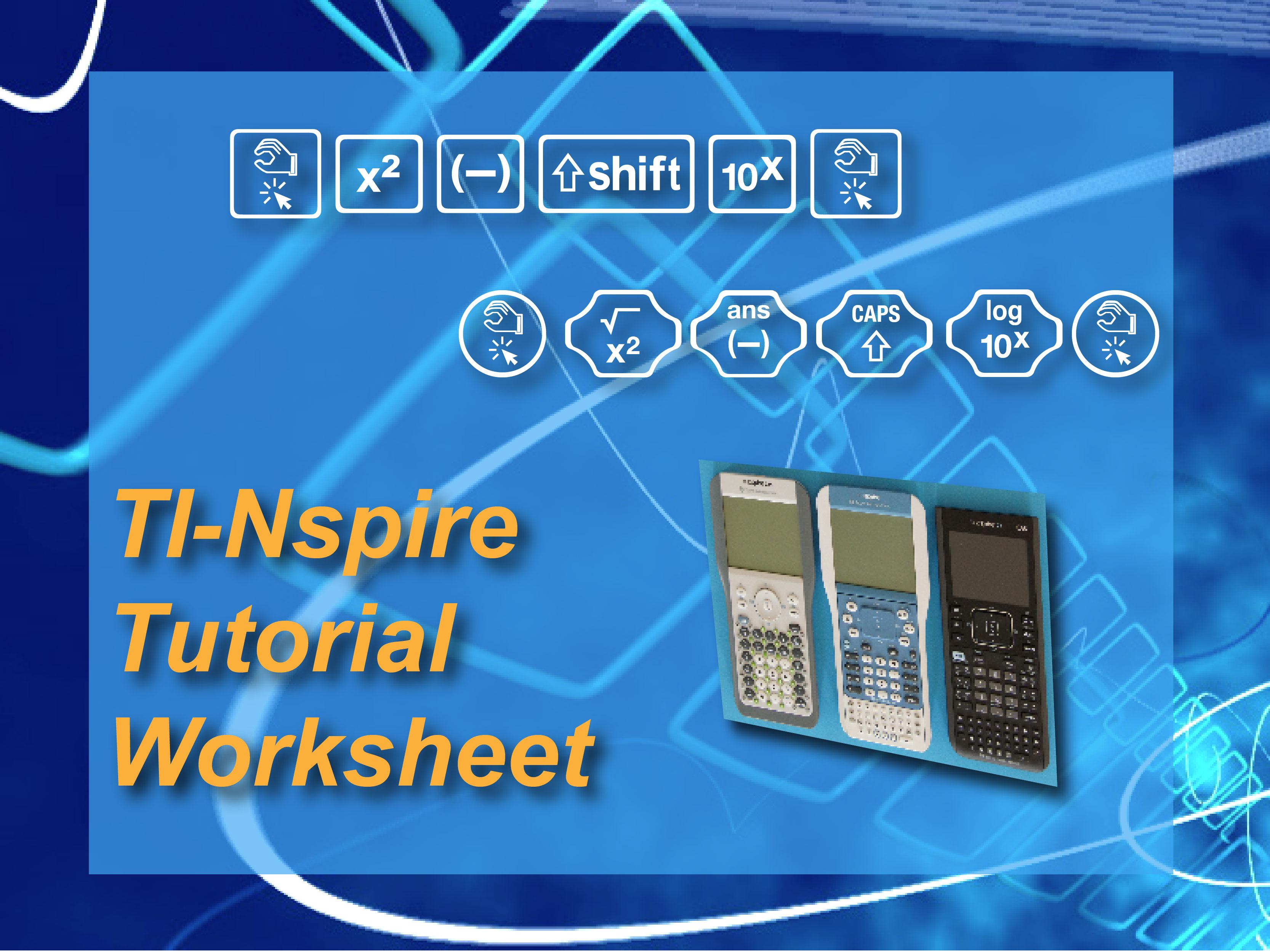Worksheet Ti Nspire Mini Tutorial Composite Functions