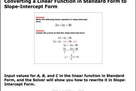 Free Forms 2018 Convert To Slope Intercept Form Calculator Free