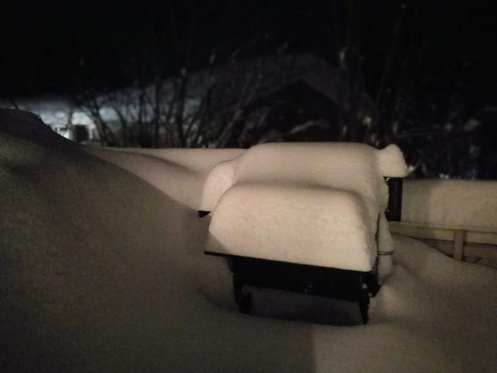 Jeg anbefaler ikke å gjøre dette, men Traegeren tåler faktisk litt snø