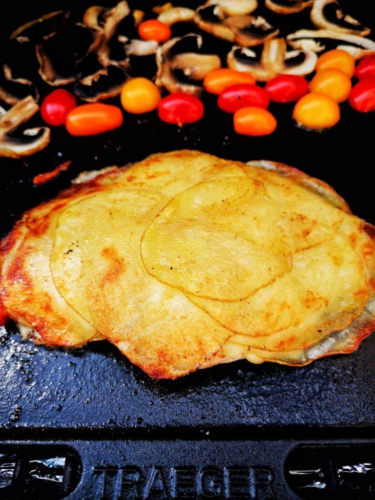 Most kyllingbryst med potetskorpe