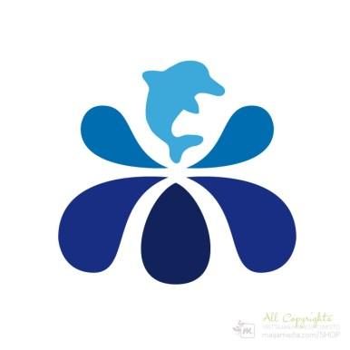 Logo: Loiskedelfiini - Suunnittelija Maija Luomala