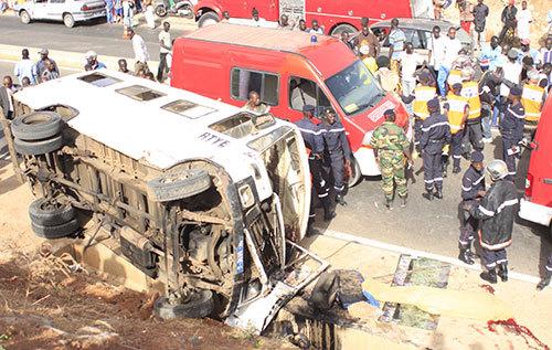 Accident de la route : entre janvier et juillet le Sénégal a enregistré 1 836 accidents dont 655 corporels