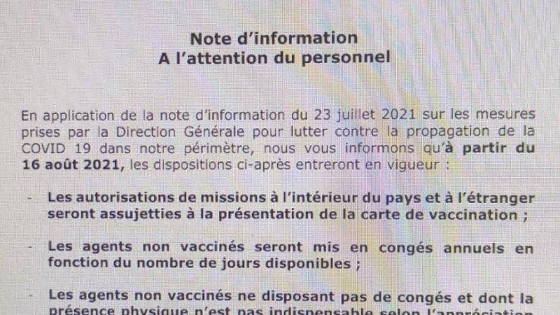 Covid-19 : la SENELEC va envoyer ses agents non vaccinés en congés annuels en fonction du nombre de jours disponibles