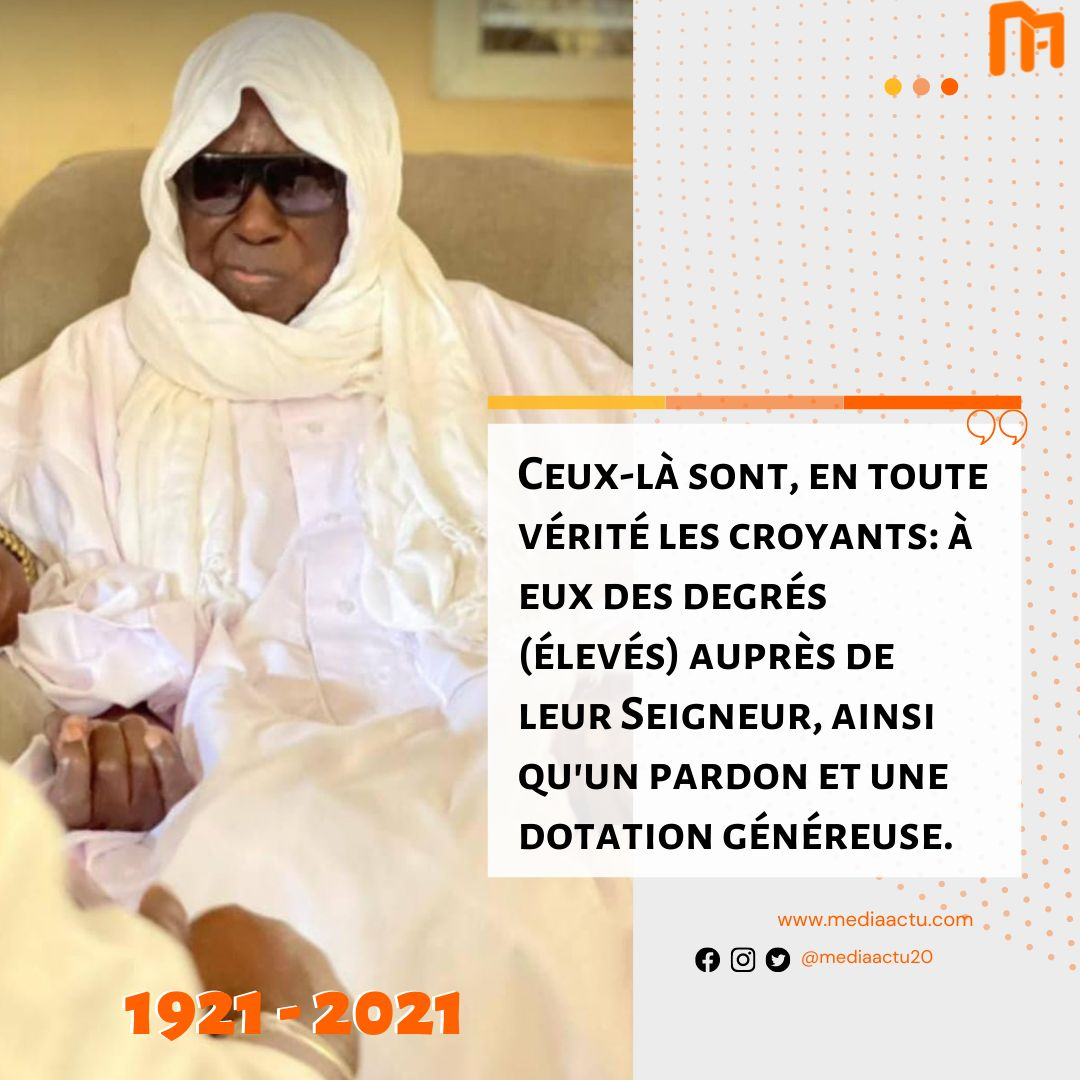 Nécrologie : décès du khalife général des Baye Fall Serigne Cheikh Dieumb Fall
