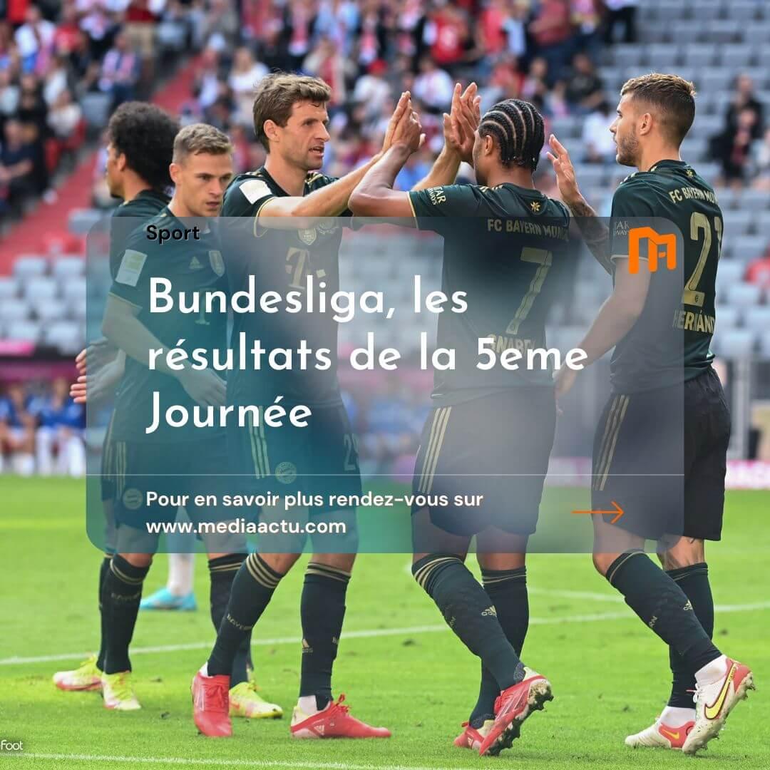 Bundesliga : les résultats de la 5e journée