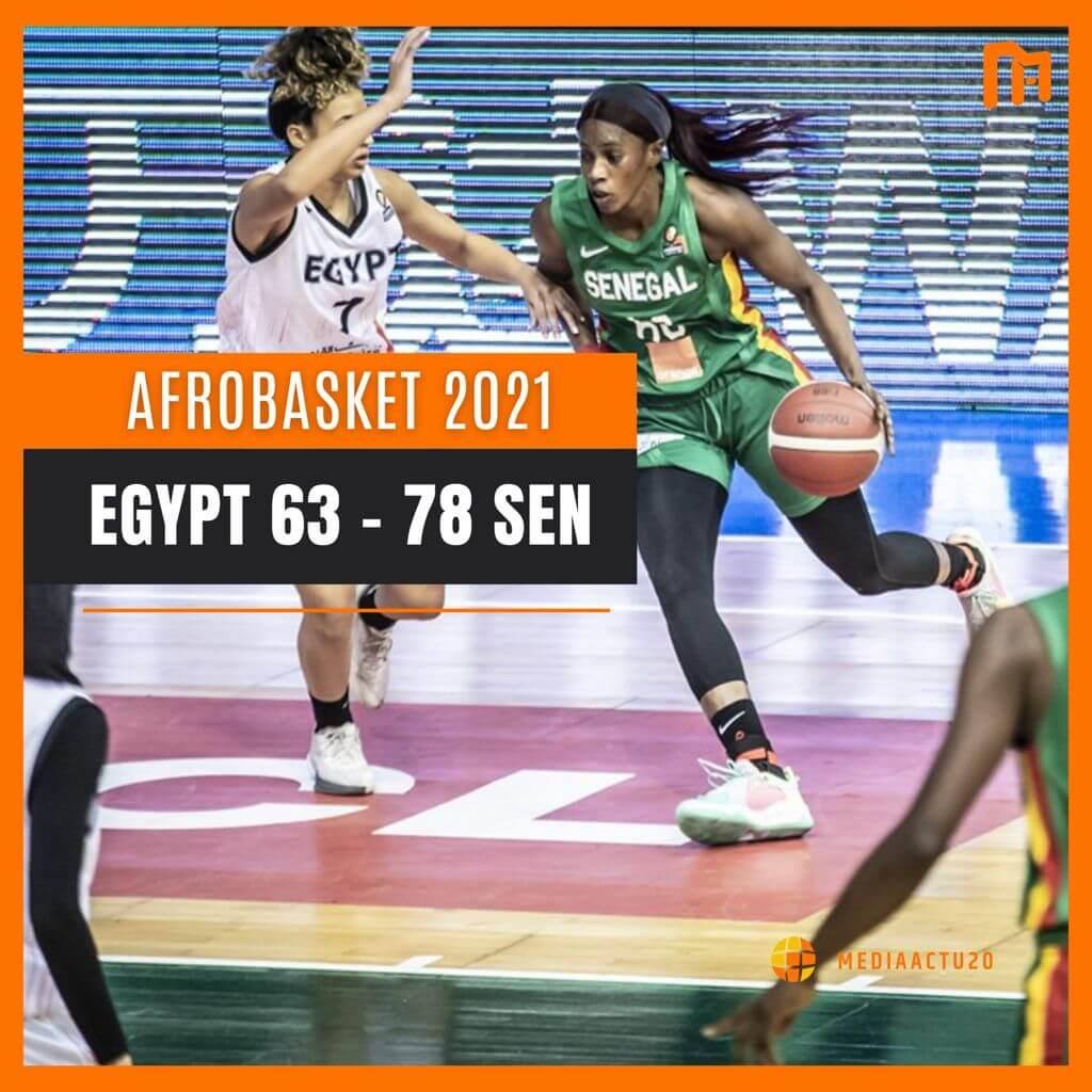Afrobasket féminin: le Sénégal bat l'Egypte (63-78) et file en quart de finale