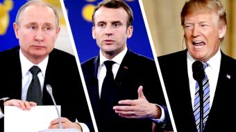 Путин, Трамп и Макрон