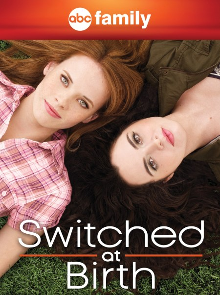 Picture shows two teenagers, Bay and Daphne, the protagonists of the TV series Switched at Birth