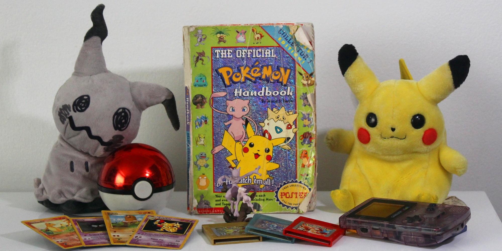 Memorabilia from throughout Pokémon history