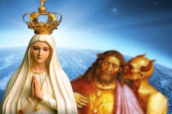 MARY-https://3.bp.blogspot.com/-AFAA2DtjonY/U2ufW2rapFI/AAAAAAAADO8/tc_RK5euLdA/s1600/MARY+-+Fatima+3.jpg--ANTICHRIST--https://apostolicinsider.com/wp-content/uploads/2018/04/antichrist-Tim-Staples.jpg--GLOBE--https://worldbusiness.org/wp-content/uploads/2012/10/world-business-academy-hero.jpg