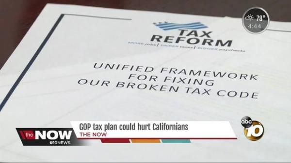 GOP tax plan could hurt Californians - 10News.com KGTV-TV ...