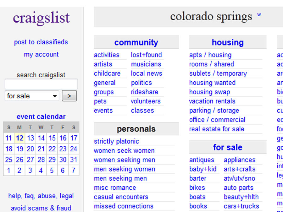 Craigslist women seeking men colo sprgs