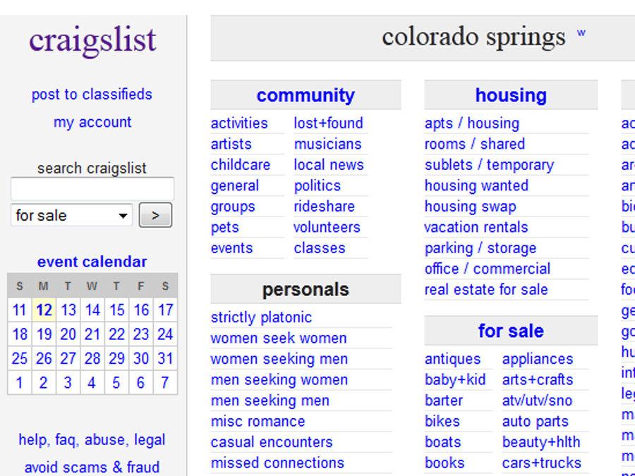 Craigslist women seeking men colo sprgs
