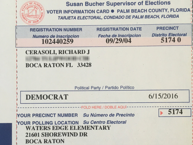 Deceased Florida Man S Voter Registration Card Sent To Step Daughter S Address Raises Questions